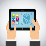 Fingerprint design Stock Images