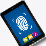 Fingerprint design Royalty Free Stock Photos