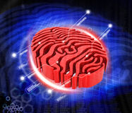 Fingerprint. Digital illustration of fingerprint concept Stock Images