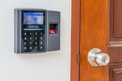 Fingerprint door lock. Security concept Stock Photography