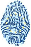 Fingerprint - Europe. Fingerprint for European people citizen Royalty Free Stock Images