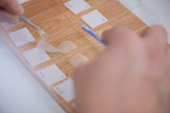 Fingerprint evidence in lab Royalty Free Stock Image