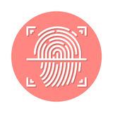 Fingerprint flat icon Stock Photos