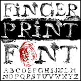 Fingerprint font. Vector hand draw fingerprint font Royalty Free Stock Images