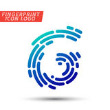 Fingerprint font logo icon Royalty Free Stock Images