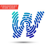 Fingerprint font logo icon Royalty Free Stock Photos