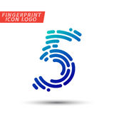 Fingerprint font logo icon Stock Photography