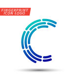 Fingerprint font logo icon Royalty Free Stock Photo