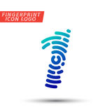 Fingerprint font logo icon Stock Photos