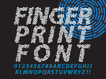 Fingerprint font set. Abstract information and identification fingerprint font set Royalty Free Stock Photography