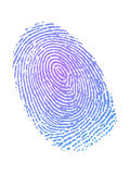 Fingerprint in gradient color Royalty Free Stock Photos