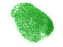Fingerprint from grass. Fingerprint in the form of a grass on white a background Royalty Free Stock Photo