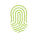 Fingerprint green icon image Stock Photo