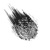Fingerprint in grunge style paint. On the image presented Fingerprint in grunge style paint Royalty Free Stock Images