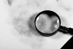 Fingerprint hand. Fingerprint hand on a white sheet Stock Photos
