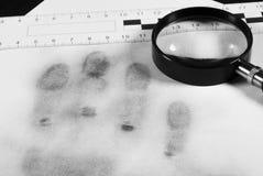Fingerprint hand. Fingerprint hand on a white sheet Stock Images