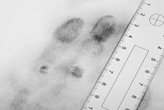 Fingerprint hand. Fingerprint hand on a white sheet Royalty Free Stock Images