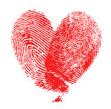 Fingerprint heart. On white background Royalty Free Stock Image