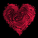Fingerprint heart Stock Photography