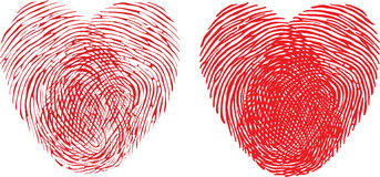 Fingerprint heart Stock Photo