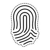 Fingerprint human thumb. Icon vector illustration graphic design Stock Photo