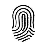 Fingerprint human thumb. Icon vector illustration graphic design Stock Images