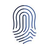 Fingerprint human thumb. Icon vector illustration graphic design Stock Photography