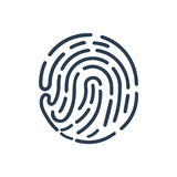 Fingerprint Icon. Beautiful, meticulously designed Fingerprint Icon Stock Image