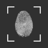 Fingerprint Icon on a black background. Vector illustration EPS10 Stock Photography