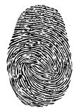 Fingerprint icon.  vector  Royalty Free Stock Photography