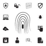 Fingerprint icon. Detailed set of cyber security icons. Premium quality graphic design sign. One of the collection icons for websi. Tes, web design, mobile app Stock Photo