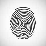 Fingerprint icon. fingerprint isolated on white background. Vector illustration.  Royalty Free Stock Images
