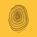 The fingerprint icon. Fingerprint symbol . Flat Stock Images