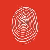 The fingerprint icon. Fingerprint symbol . Flat. Vector illustration Stock Images