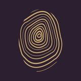 The fingerprint icon. Fingerprint symbol . Flat. Vector illustration Stock Photo