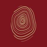 The fingerprint icon. Fingerprint symbol . Flat. Vector illustration Stock Image