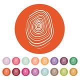 The fingerprint icon. Fingerprint symbol . Flat. Vector illustration. Button Set Royalty Free Stock Photography