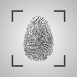 Fingerprint Icon on a gray background. Vector illustration Stock Photos