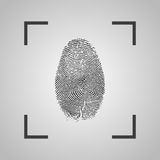 Fingerprint Icon on a gray background. Vector illustration. Fingerprint Icon on a gray background. Vector  illustration Stock Images