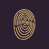 The fingerprint icon. ID symbol. Flat Royalty Free Stock Images