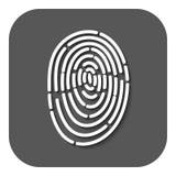 The fingerprint icon. ID symbol. Flat. Vector illustration. Button Stock Photo