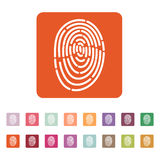 The fingerprint icon. ID symbol. Flat Stock Images