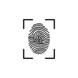 Fingerprint icon identification. Fingerprint line icon. Vector design template elements for your application or corporate identity Stock Images