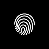 Fingerprint icon. illustration  sign symbol Royalty Free Stock Image