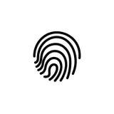 Fingerprint icon. illustration  sign symbol.  Stock Photos