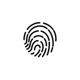 Fingerprint icon. illustration  sign symbol.  Stock Photography
