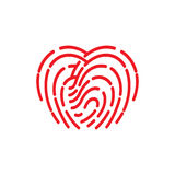 Fingerprint icon. illustration  sign symbol Royalty Free Stock Images