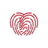 Fingerprint icon. illustration  sign symbol.  Royalty Free Stock Images