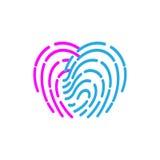 Fingerprint icon. illustration  sign symbol.  Royalty Free Stock Image