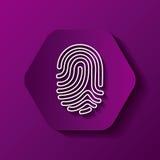 Fingerprint icon image Stock Photos